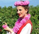 Beautiful Bulgarian woman with roses