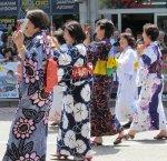 Japanese kimono, ladies in Kazanlak Rose Parade