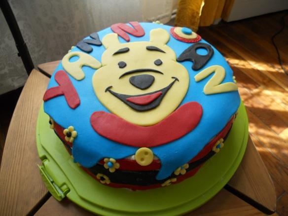 Мечо Пух на торта за рожден ден