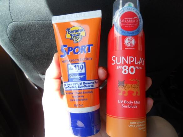 Това ни спасяваше от силното слънце. До този момент не ми се беше случвало да ползвам продукти с толкова висок фактор на защита.