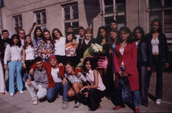 Моят клас с класната в средата - Стефка Георгиева