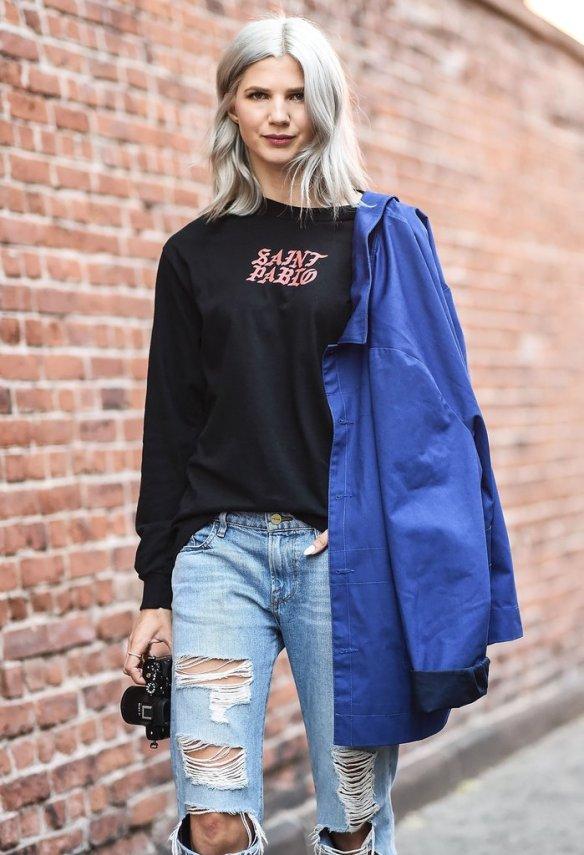 samantha-angelo-wore-saint-pablo-shirt-her-bill-cunningham-inspired-blue-jacket